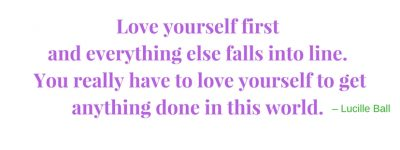 Love Yourself - Lucille Ball White Bkgrnd
